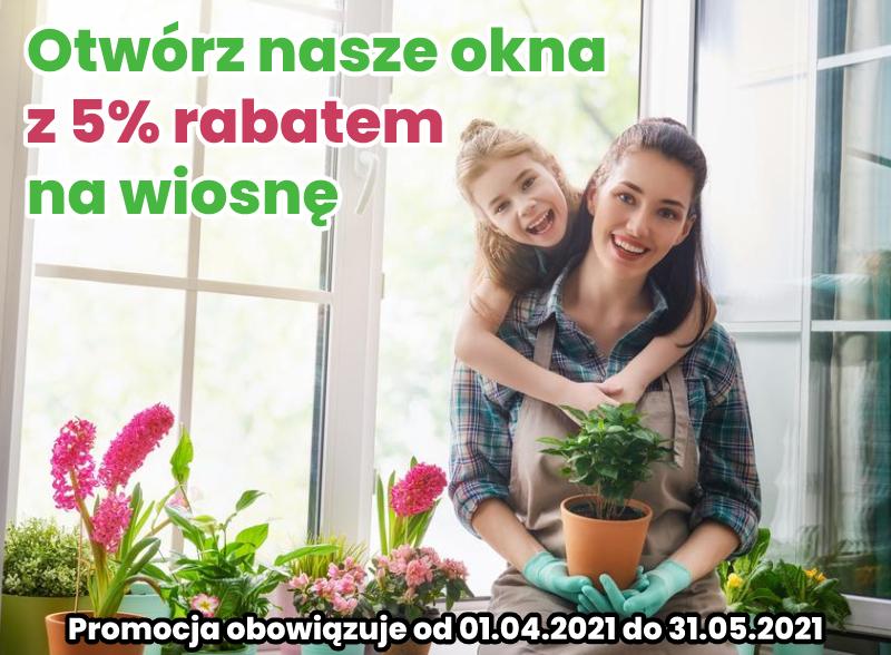 Promocja wiosenna na okna w firmie Fasmont
